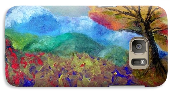 Galaxy Case featuring the painting Fingerpainting by Annamarie Sidella-Felts