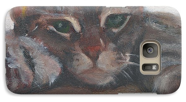 Galaxy Case featuring the painting Fiona by Jessmyne Stephenson