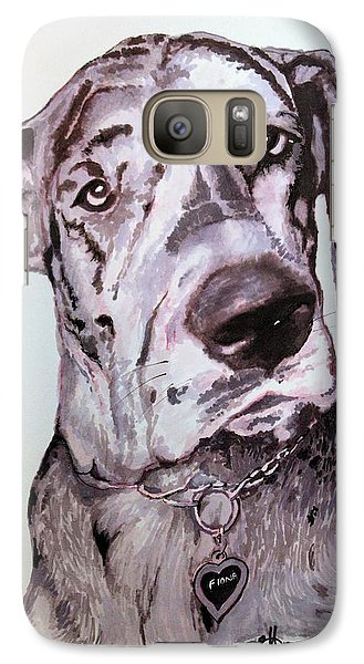 Galaxy Case featuring the drawing Fiona by Rachel Hames