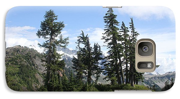 Galaxy Case featuring the photograph Fir Trees At Mount Baker by Tom Janca