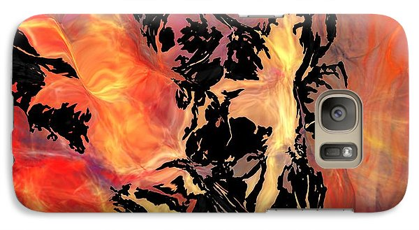 Galaxy Case featuring the digital art Fire 041214 by David Lane