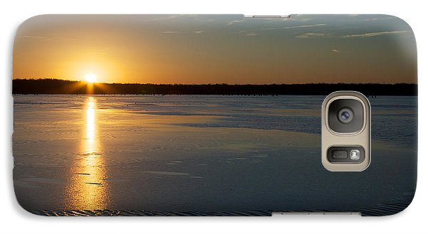Galaxy Case featuring the photograph Fire And Ice - Sunset On An Icy Lake by Jane Eleanor Nicholas