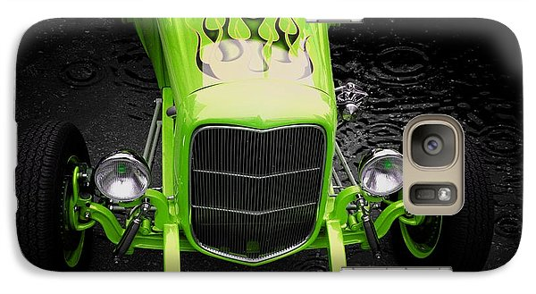 Classic Cars Galaxy Case featuring the photograph Fire And Water Green Version by Aaron Berg