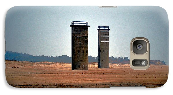 Galaxy Case featuring the photograph Fct5 And Fct6 Fire Control Towers On The Beach by Bill Swartwout