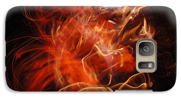 Galaxy Case featuring the photograph Fire Creature  by Kjirsten Collier