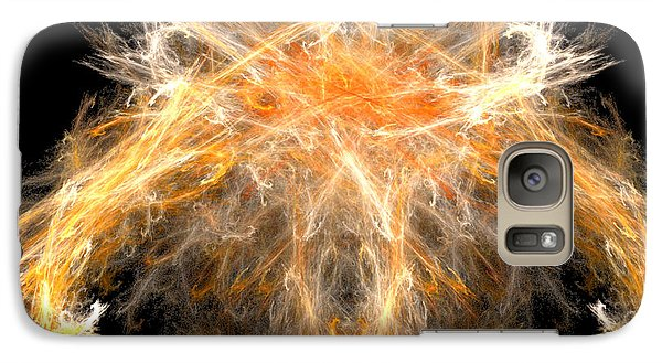 Galaxy Case featuring the digital art Fire Creature by R Thomas Brass