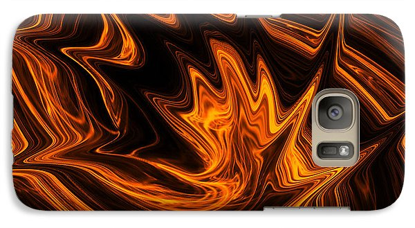 Galaxy Case featuring the digital art Fire Dancer by A Dx