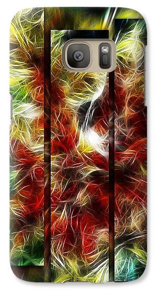Galaxy Case featuring the digital art Fire Dancers Triptych by Selke Boris