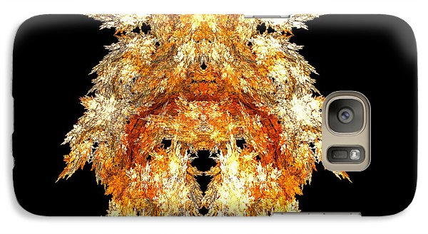 Galaxy Case featuring the digital art Fire Dog by R Thomas Brass