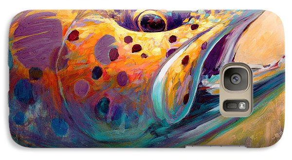 Fire From Water - Rainbow Trout Contemporary Art Galaxy Case by Savlen Art