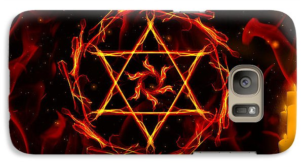 Galaxy Case featuring the painting Fire Hexagram by Persephone Artworks