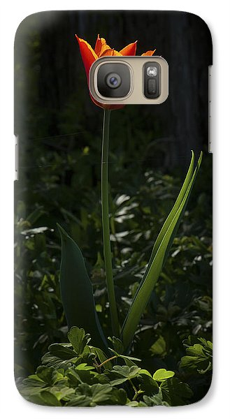 Galaxy Case featuring the photograph Fire In The Forest by Jim Moore