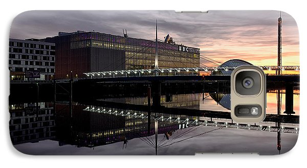 Galaxy Case featuring the photograph Fire In The Sky At The Clyde Front by Stephen Taylor