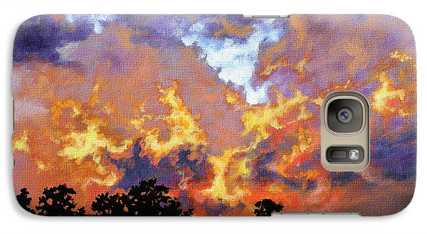 Galaxy Case featuring the painting Fire In The Sky by Craig T Burgwardt
