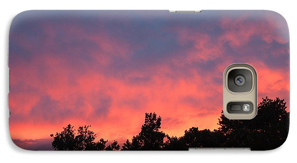 Galaxy Case featuring the photograph Fire In The Sky by Deborah Fay
