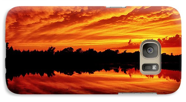 Galaxy Case featuring the photograph Fire In The Sky by Jason Politte