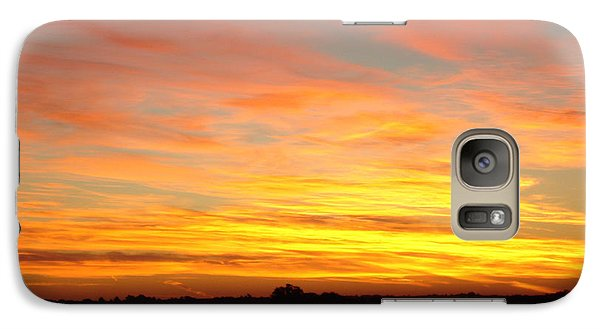 Galaxy Case featuring the painting Fire In The Sky by J L Zarek