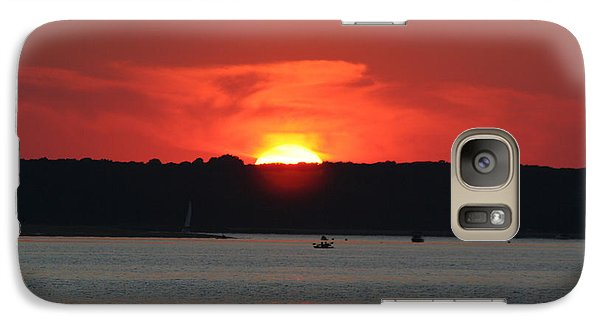 Galaxy Case featuring the photograph Fire In The Sky by Karen Silvestri
