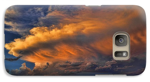 Galaxy Case featuring the photograph Fire In The Sky by Karen Slagle