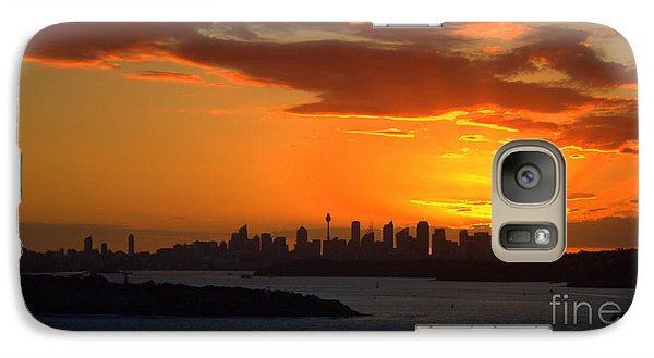 Galaxy Case featuring the photograph Fire In The Sky by Miroslava Jurcik
