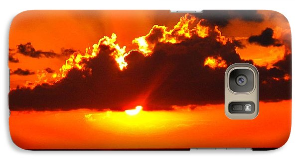 Galaxy Case featuring the photograph Fire In The Sky by Patti Whitten
