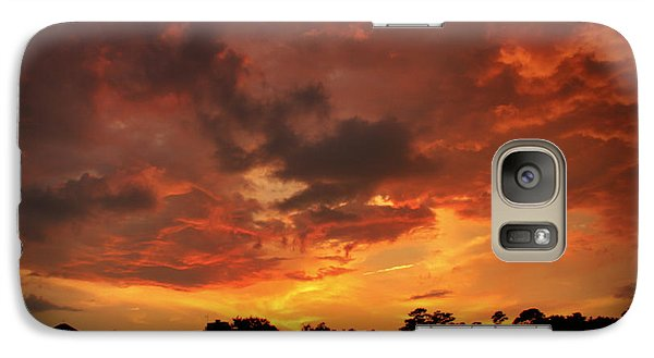 Galaxy Case featuring the photograph Fire In The Sky by Phil Mancuso