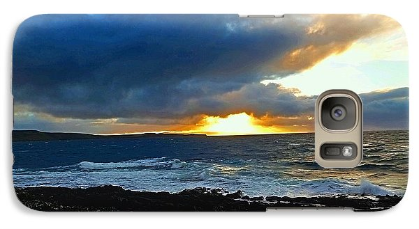 Galaxy Case featuring the photograph Fire In The Skye by Andy Heavens