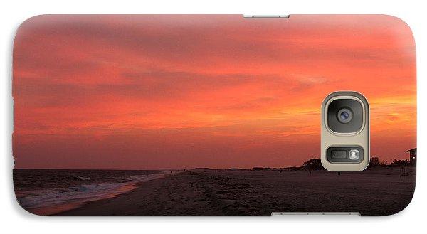 Galaxy Case featuring the photograph Fire Island Sunset by Haren Images- Kriss Haren
