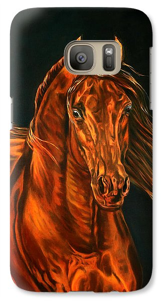 Galaxy Case featuring the painting Fire by Leena Pekkalainen