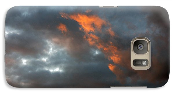 Galaxy Case featuring the photograph Fire Light by Allen Carroll