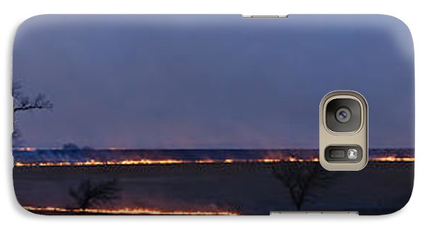 Galaxy Case featuring the photograph Fire Lines At Night by Scott Bean