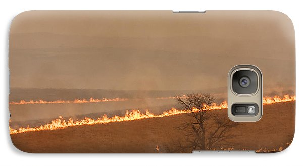 Galaxy Case featuring the photograph Fire Lines by Scott Bean