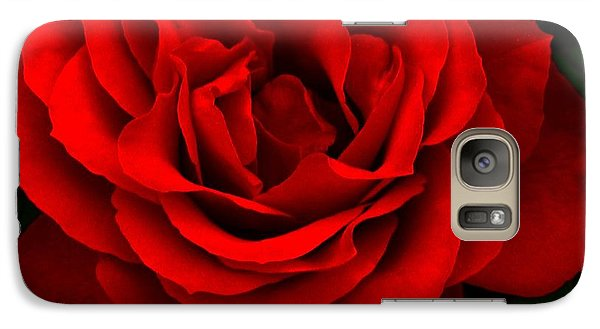 Galaxy Case featuring the photograph Fire Red Rose by Margaret Newcomb