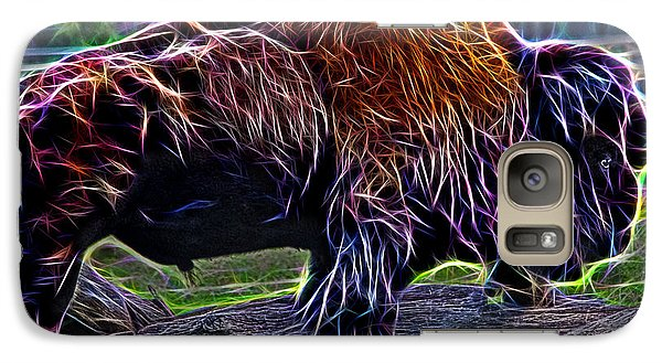 Fire Of A Bison  Galaxy S7 Case by Miroslava Jurcik