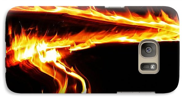 Galaxy Case featuring the photograph Fire On High... by Al Fritz