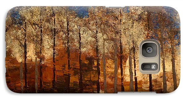 Galaxy Case featuring the painting Fire On The Mountain by Linda Bailey