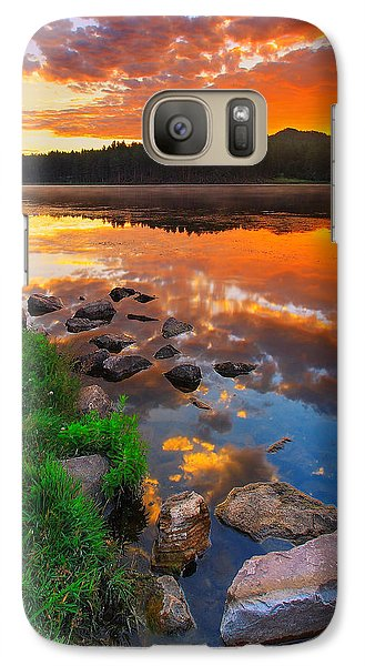 Fire On Water Galaxy S7 Case by Kadek Susanto