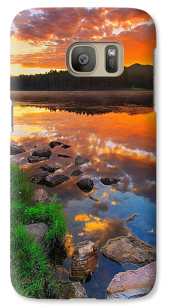 Galaxy Case featuring the photograph Fire On Water by Kadek Susanto