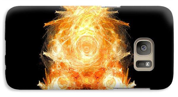 Galaxy Case featuring the digital art Fire Pig by R Thomas Brass