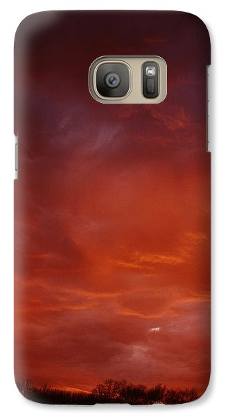 Galaxy Case featuring the photograph Fire Sky by Christopher McKenzie