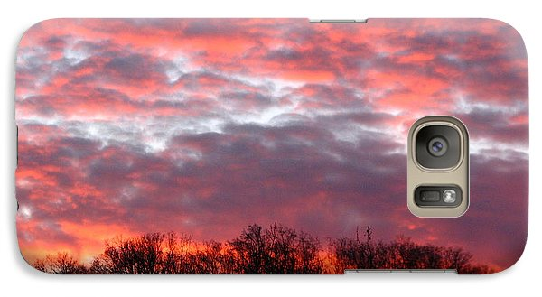 Galaxy Case featuring the photograph Fire Sky by Cleaster Cotton