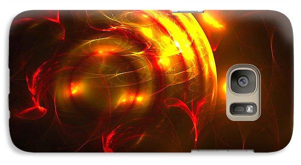 Galaxy Case featuring the digital art Fire Storm by Victoria Harrington