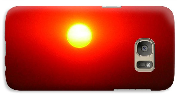 Galaxy Case featuring the photograph Fire Sun by Julia Ivanovna Willhite