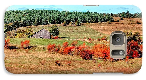 Galaxy Case featuring the photograph Fire Trees by Michaela Preston
