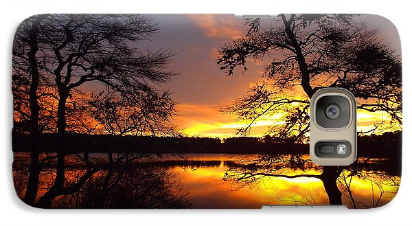 Galaxy Case featuring the photograph Sunrise Fire by Dianne Cowen