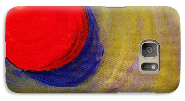 Galaxy Case featuring the painting Fireball by Brigitte Emme