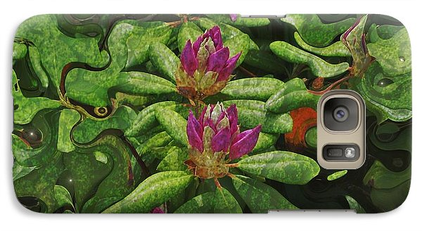 Galaxy Case featuring the photograph Fireflies And Flowers by Kathie Chicoine
