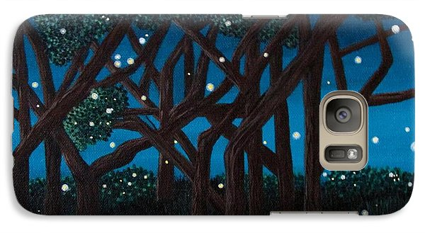 Galaxy Case featuring the painting Fireflies by Cheryl Bailey