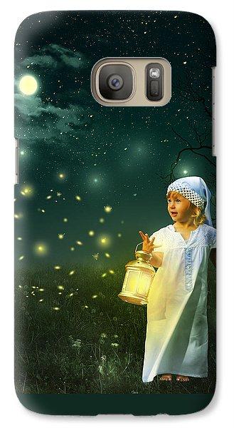 Fireflies Galaxy S7 Case by Linda Lees