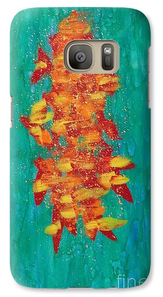 Galaxy Case featuring the painting Fireflies Of The Sea by Theresa Kennedy DuPay